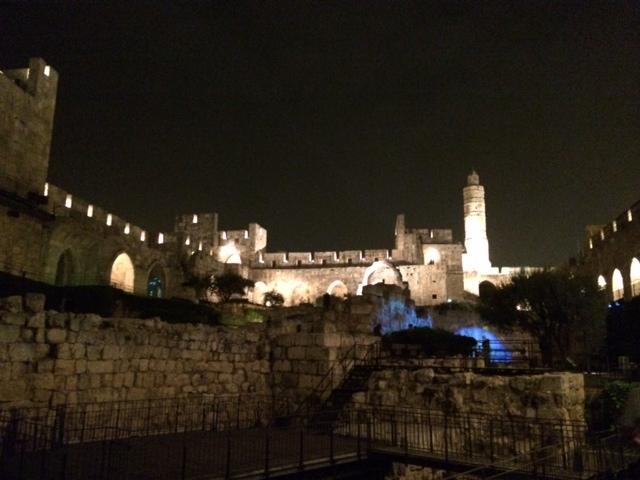 Tower David at Night
