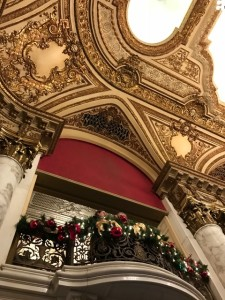 The Boston Opera house is just gorgeous, especially with Christmas decorations.